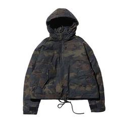 除一 - 連帽夾棉迷彩夾克