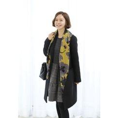 Lemite - Floral Pattern Wool Blend Scarf