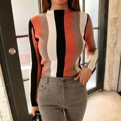 DABAGIRL - Multicolor Stripe Slim-Fit Knit Top