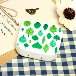 Lens Kingdom - Leaf Print Contact Lens Case Set