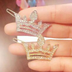 Gold Beam - Crown Hair Clip
