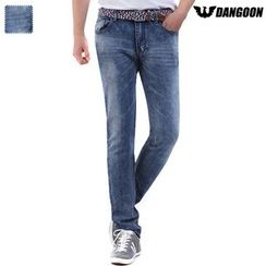 DANGOON - Washed Straight-Cut Jeans