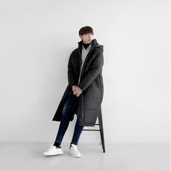 Seoul Homme - Zip-Up Long Padded Hoodie Parka