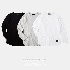 Newin - Long-Sleeved Cotton T-Shirt