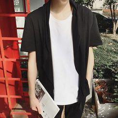 Zeesebon - Short-Sleeve Open Front Jacket
