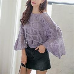 Babi n Pumkin - Bell-Sleeve Knit Sweater