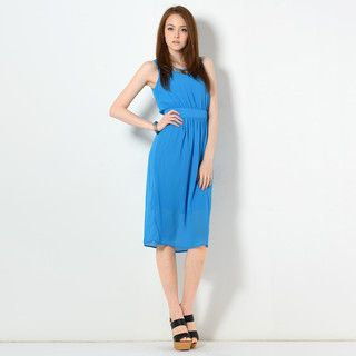 YesStyle Z - Tie-Back Sleeveless Midi Dress
