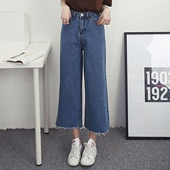 Honey House - Cropped Boot Cut Jeans