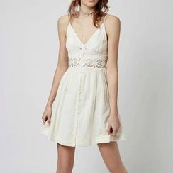 Chicsense - Lace-Trim Sundress