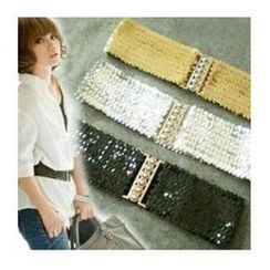 Charm n Style - Sequined Elastic Belt