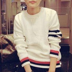 JUN.LEE - Striped Sweater