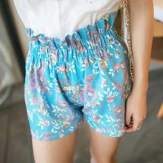 Tokyo Fashion - Paperbag Waist Floral Shorts