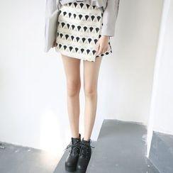 Rabbitstyle - Printed Layered Shorts