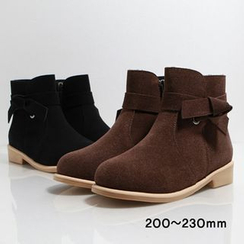 Dodostyle - Faux Fur-Lined Faux-Suede Ankle Boots