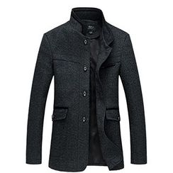 Riverland - Mandarin Collar Button Coat