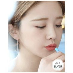 Miss21 Korea - Silver Drop Earrings (2 Designs)