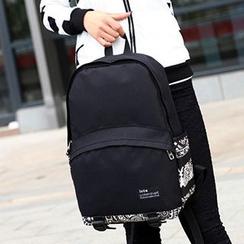 AIQER - Patterned Panel Backpack