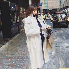 OCTALE - Hooded Woolen Long Coat