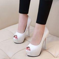 Anran - Peep Toe Platform Stilettos