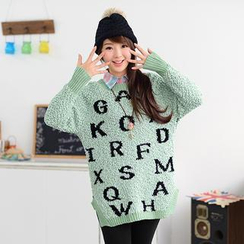 59 Seconds - Lettering Bouclé Sweater