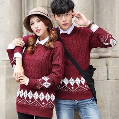 Tabla - Couple Matching Patterned Sweater