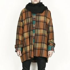 Rememberclick - Wool-Blend Check Coat