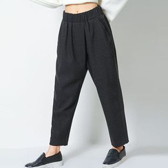 FASHION DIVA - Band-Waist Baggy-Fit Pants