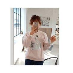 LEELIN - Sequined Embellished Sweatshirt