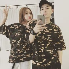 Teezone - Couple Camouflage T-Shirt