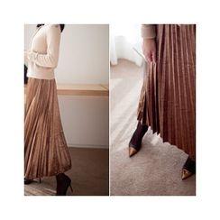 MASoeur - Band-Waist Accordion0-Pleated Skirt