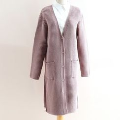 11.STREET - Plain Long Cardigan