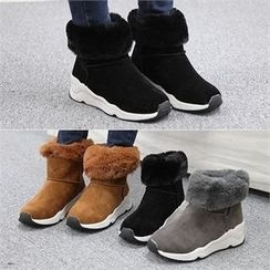 Reneve - Wedge-Heel Short Snow Boots
