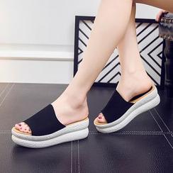 Hannah - Platform Slide Sandals