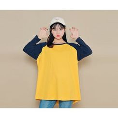 HOTPING - Reglan-Sleeve Loose-Fit Top