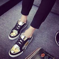 Furin - 2016新款低幫鐵片男士板鞋潮流時尚英倫男鞋子潮鞋運動休閑鞋