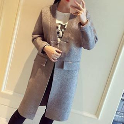 Asally - Long Knit Jacket