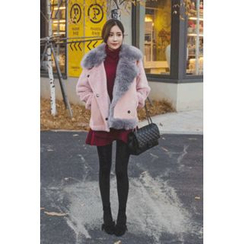 migunstyle - Faux-Fur Faux-Shearling Jacket