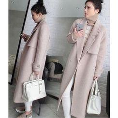 Mariposa - Long Notch Lapel Woolen Jacket