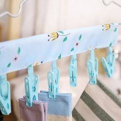 Class 302 - Floral Print Velcro Clothes Line with Clips