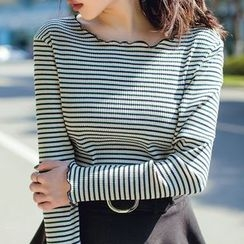 Forest Girl - Striped Long-Sleeve T-Shirt