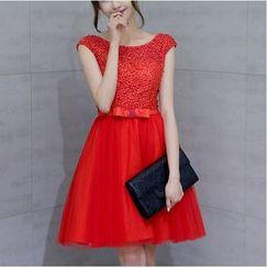 MSSBridal - Embellished Mini Prom Dress