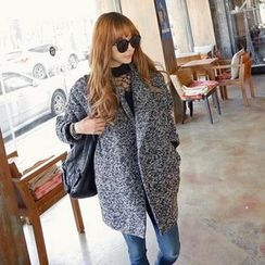 REDOPIN - Double-Breasted Mélange Coat