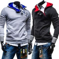 Hansel - Half Side Zip Long Sleeve Hoodie