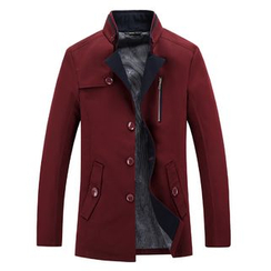 Harvin - Stand Collar Buttoned Jacket