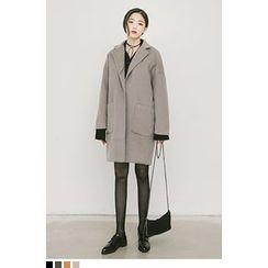 QQQQ - Drop-Shoulder Single-Button Coat