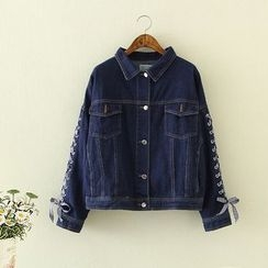 Nycto - Lace Up Denim Jacket