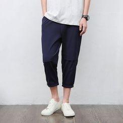 Mrlin - Band Waist Cropped Pants