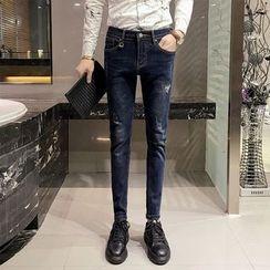 Maluda - 做舊修身牛仔褲