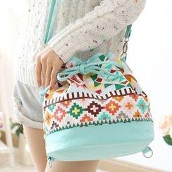 Canvas Love - Print Bucket Shoulder Bag