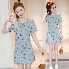 Sienne - Print Short-Sleeve Dress